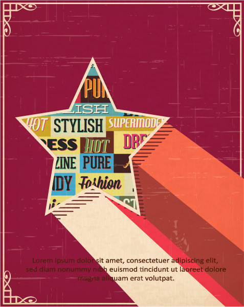 Vector illustration with typography elements and star shape Vector Illustrations star