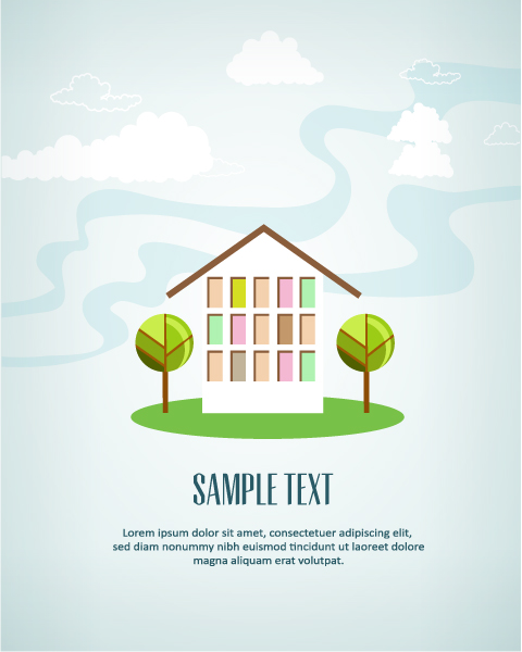 Vector illustration with house 5