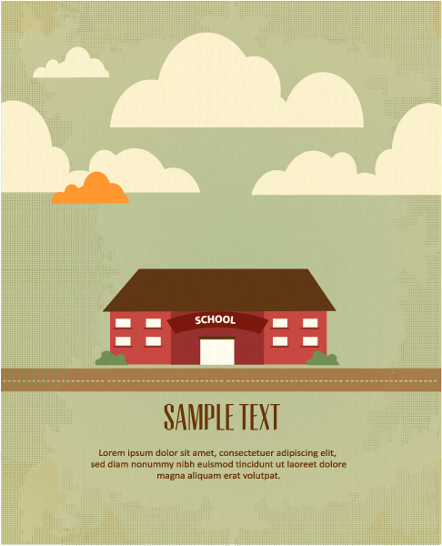 Smashing Building Vector Illustration: Vector Illustration Background Illustration With Building Landscape 1
