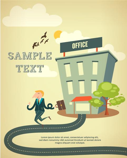 Best Vector Vector Illustration: Vector Illustration Background Illustration With Building Landscape 1