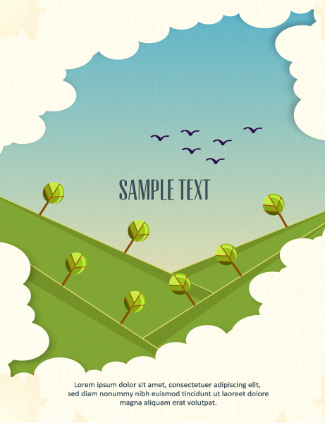 Vector background illustration with tree Vector Illustrations tree
