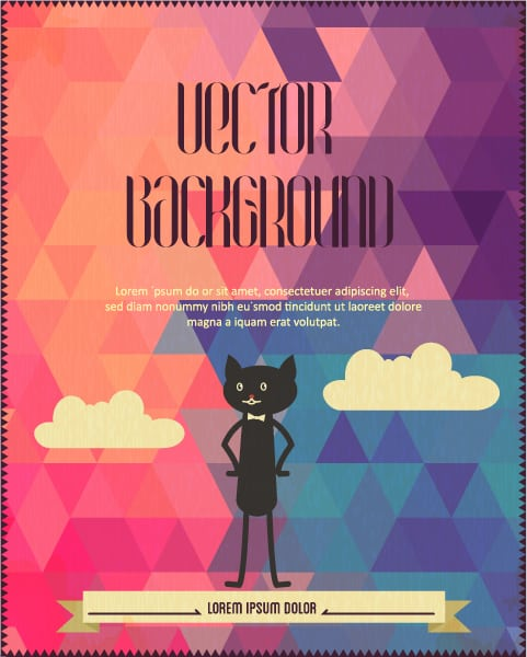 Clouds Vector Image Vector Background Illustration  Clouds  Cat 1