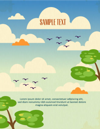 Vector background illustration with clouds, Vector Illustrations urban