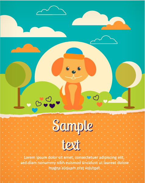Astounding Torn Vector Art: Vector Art Background Illustration With Dog And Torn Paper 1