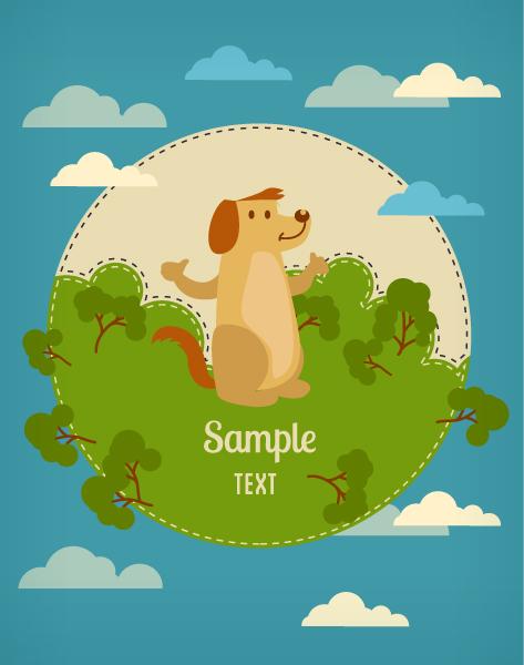 Illustration Vector Vector Background Illustration  Dog 1