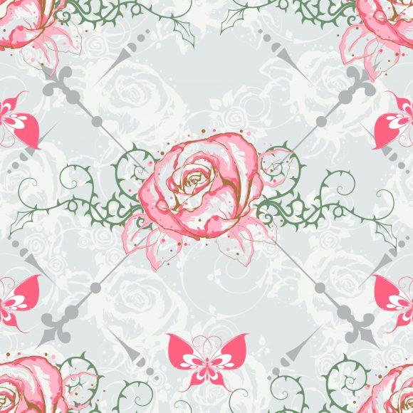 Gorgeous Patternseamlessrepeatmultiplyvectorfloralleafplantflowerfakedecorationornateabstractsymboldesignillustrationbackgroundartartworkcreativedecorelegantimage Vector Artwork: Vector Artwork Seamless Pattern With Floral 1