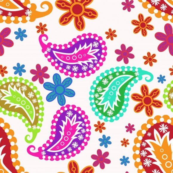 Pattern Vector Image: Vector Image Seamless Pattern With Floral 1