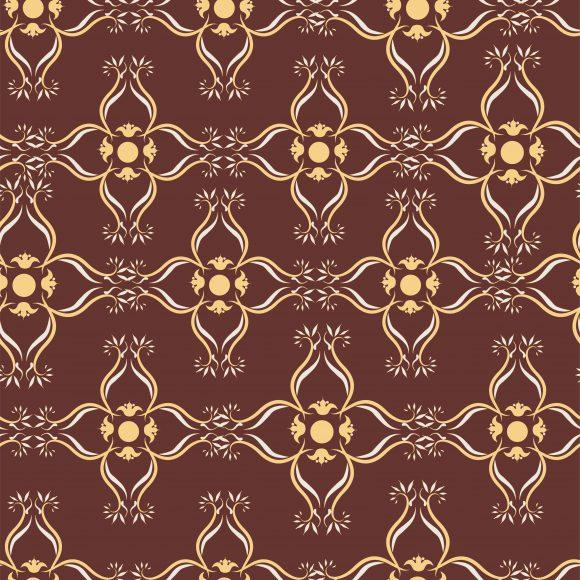 Pattern Vector Illustration: Vector Illustration Arabesque Seamless Pattern 1