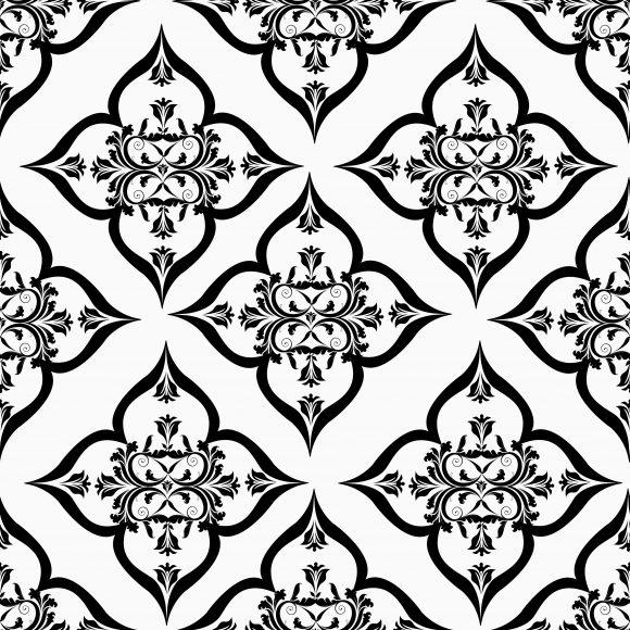 Stunning Arabesque Vector Art: Vector Art Arabesque Seamless Pattern 1