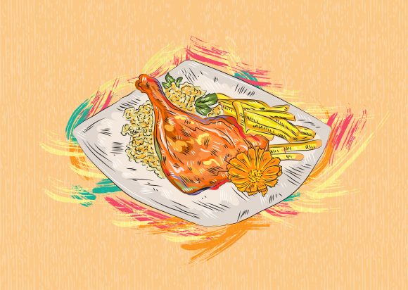 cooked food vector  illustration 2015 03 03 869