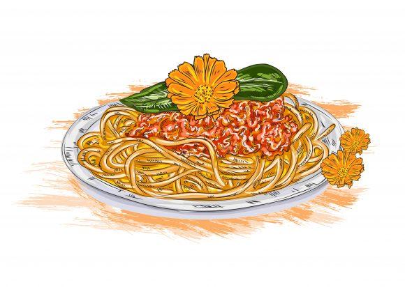 Tomato, Spaghetti Vector Image Vector Spaghetti Whith Tomato Sauce 1