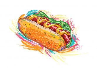 hot dog vector  illustration Vector Illustrations vector