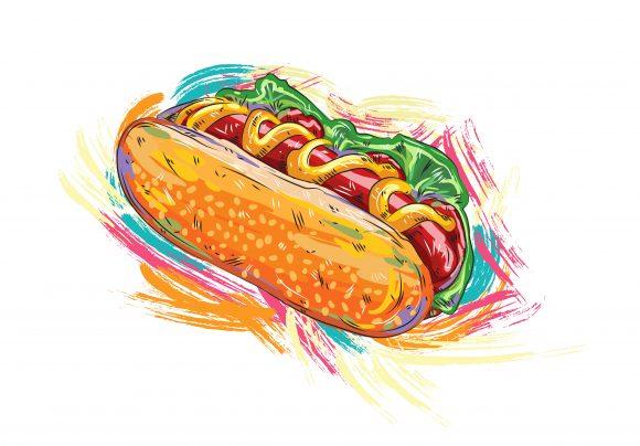 Illustration Vector Artwork Hot Dog Vector  Illustration 1