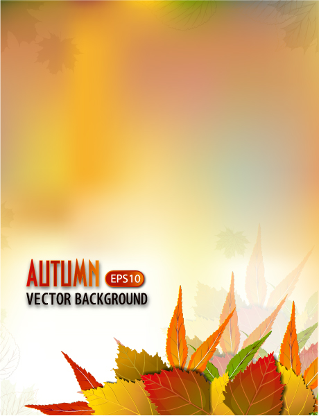 vector autumn background Vector Illustrations floral