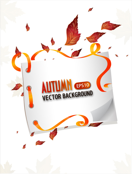 vector autumn background with banner Vector Illustrations floral