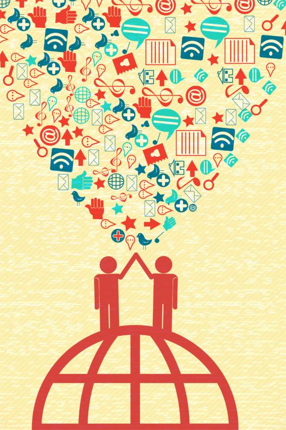 Social-media Vector Vector Social Media Concept 1