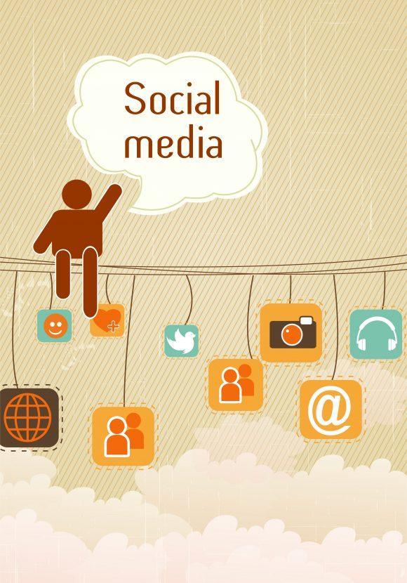 Contact Eps Vector: Eps Vector Social Media Illustration 1