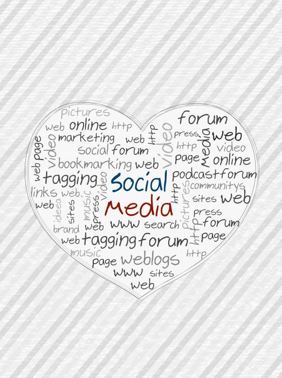 Media Vector Background: Vector Background Social Media Concept 1