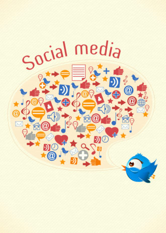 vector social media illustration Vector Illustrations vector
