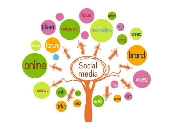vector social media concept Vector Illustrations tree