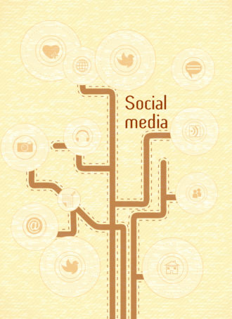 vector social media concept Vector Illustrations tree