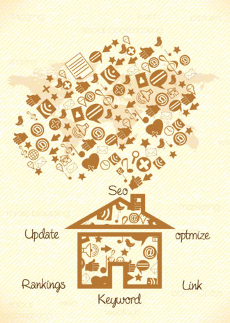 vector house with social icons Vector Illustrations vector