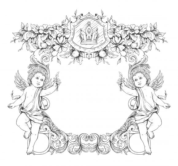 vector victorian frame with angels 2015 03 03 940 scaled