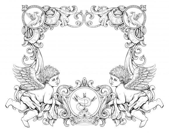 Victorian Vector Design Vector Victorian Frame  Angels 1