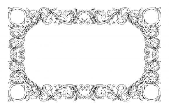 Frame Vector Graphic Vector Vintage Floral Frame 1