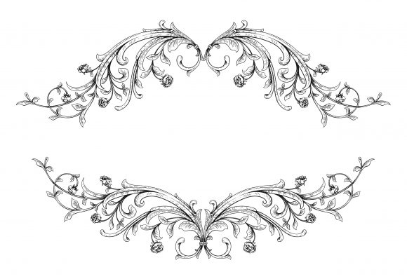 Special Floral-3 Vector Graphic: Vector Graphic Vintage Floral Frame 5
