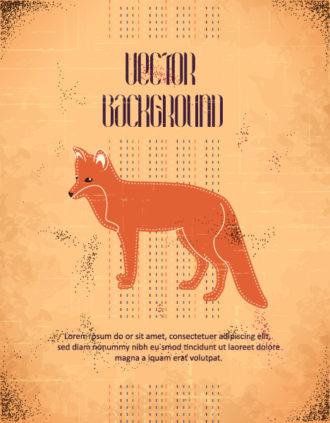 Vector background illustration with fox Vector Illustrations urban