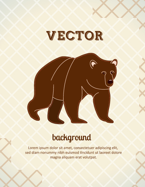 Vector background illustration with bear Vector Illustrations urban