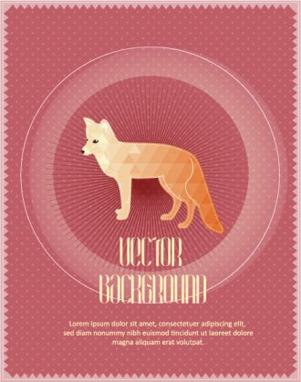 Vector background illustration with fox Vector Illustrations urban
