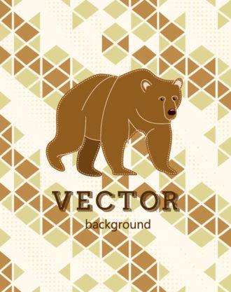 Vector background illustration with bear Vector Illustrations urban
