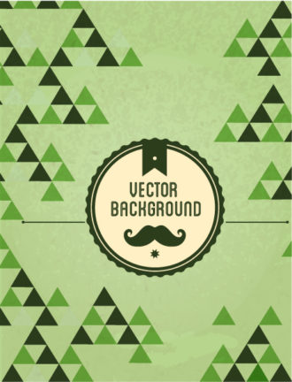 Vector background illustration with hipster badge Vector Illustrations urban