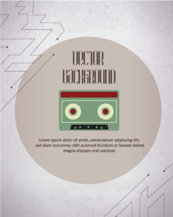 Vector background illustration with hipster radio box Vector Illustrations urban