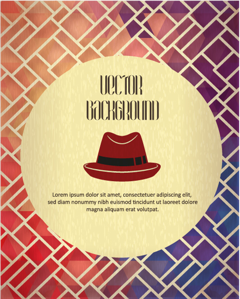 Vector background illustration with hipster hat Vector Illustrations urban