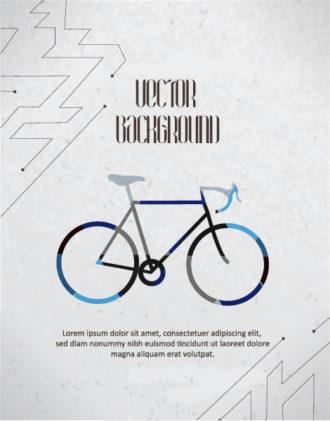 Vector background illustration with hipster bike, Vector Illustrations urban