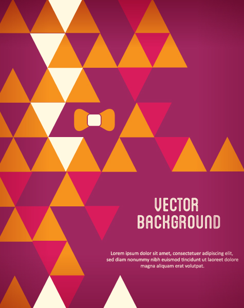 Vector background illustration with bow Vector Illustrations urban