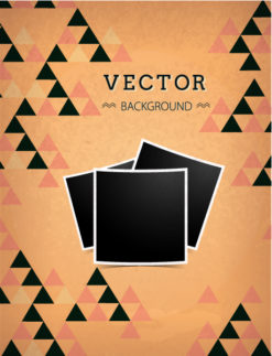 Vector background illustration with hipster photo frames Vector Illustrations urban