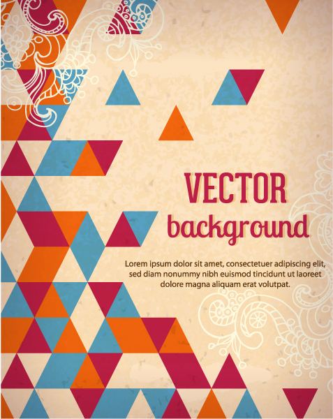 Vector background illustration with floral ornament Vector Illustrations urban