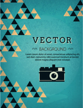 Vector background illustration with hipster photo camera Vector Illustrations urban