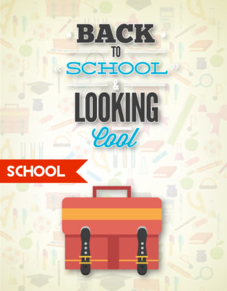 Back to school vector illustration with school bag and ribbon Vector Illustrations vector