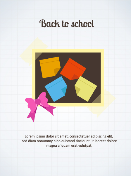 Back to school vector illustration with pinboard Vector Illustrations vector
