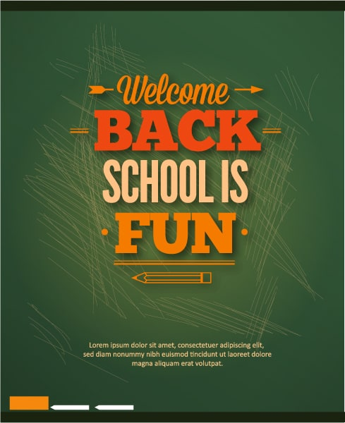 Back to school vector illustration with school table Vector Illustrations vector