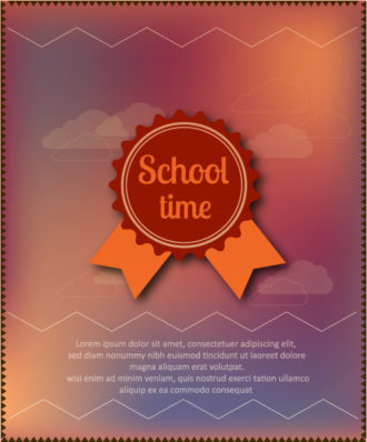 Back to school vector illustration with badge Vector Illustrations vector