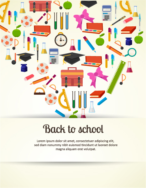 Back to school vector illustration with school elements 2015 04 04 104