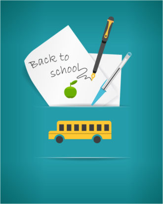 Back to school vector illustration with blank paper sheets Vector Illustrations vector