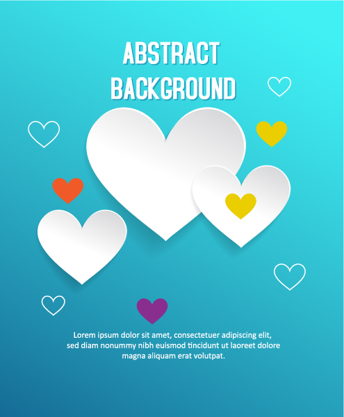 3D abstract vector illustration with heart 2015 04 04 152