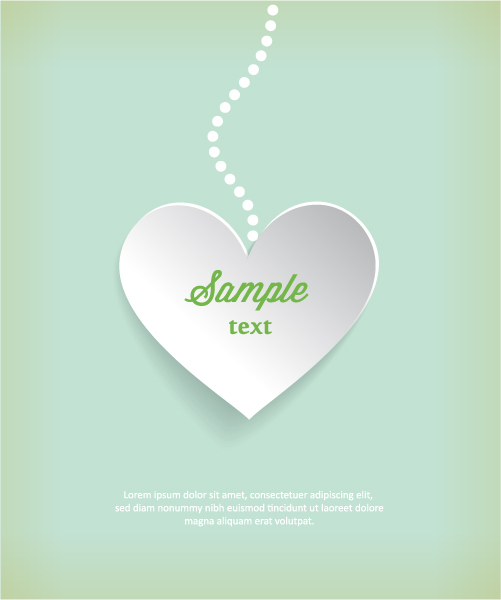 3D abstract vector illustration with heart 2015 04 04 182